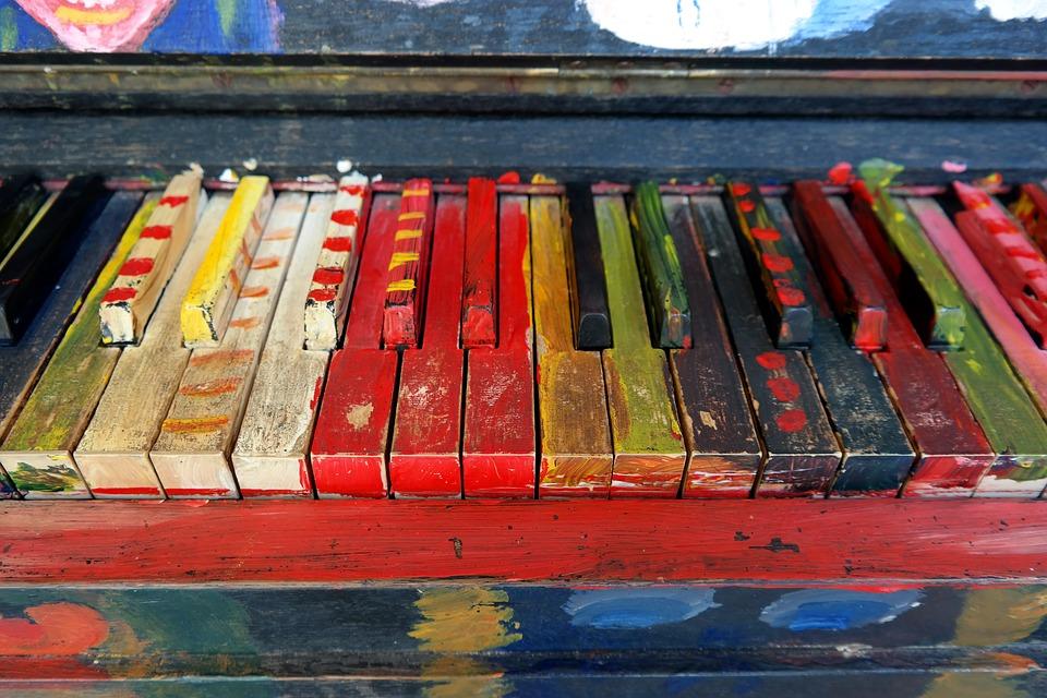Kunst Farbe Klavier