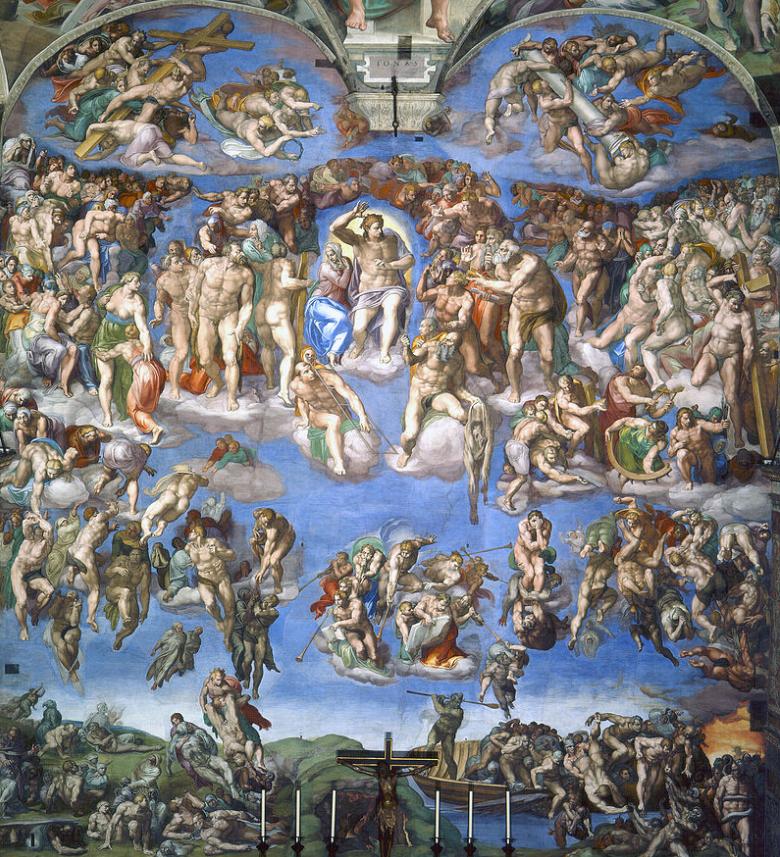 Gemälde von Michelangelo, Das Jüngste Gericht, c. 1536 - 1541