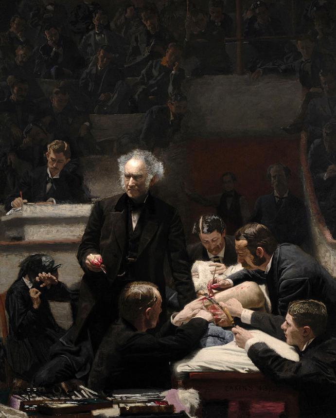 Gemälde von Thomas Eakins, Die Klinik Gross, 1875
