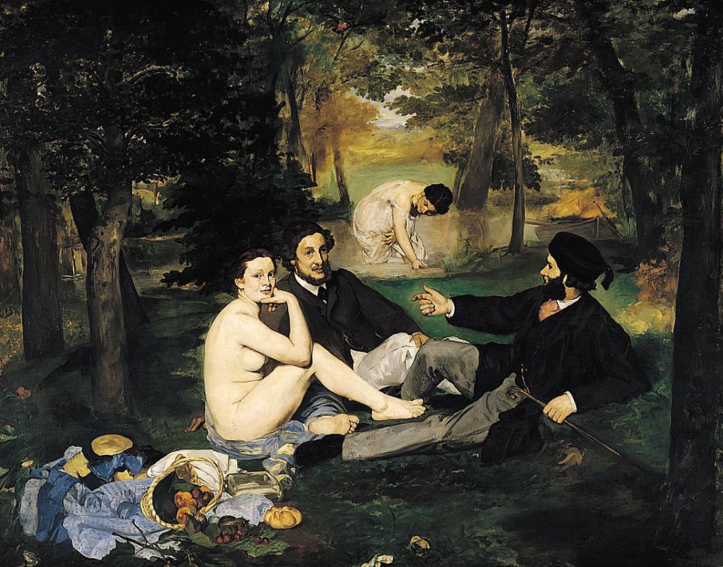 Das Frühstück im Grünen, Gemälde von Edoard Manet, 1863