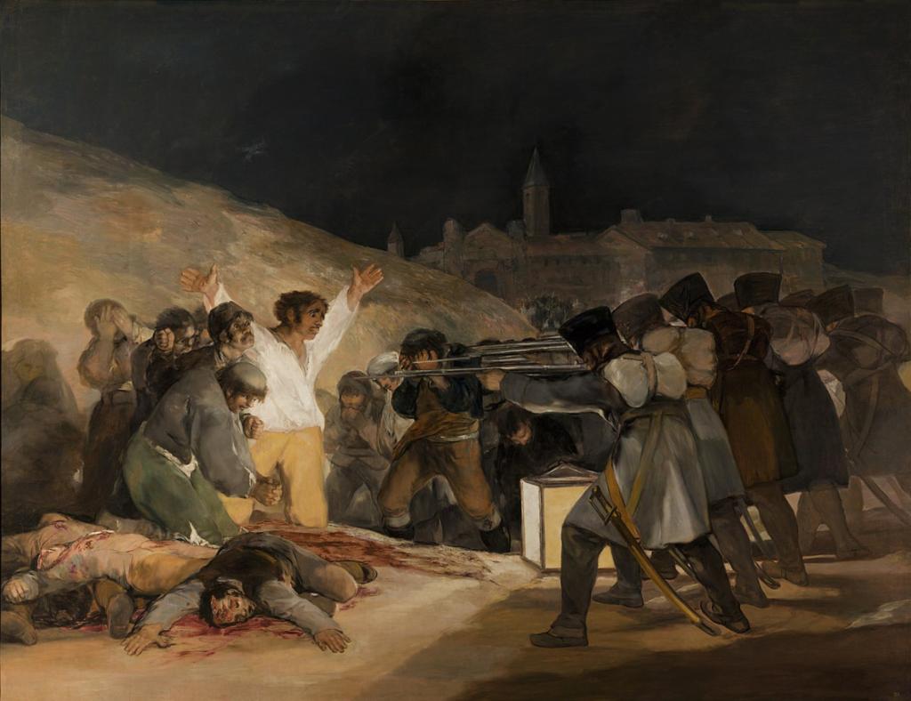 Die Erschießung der Aufständischen, Gemälde von Francisco de Goya, 1808