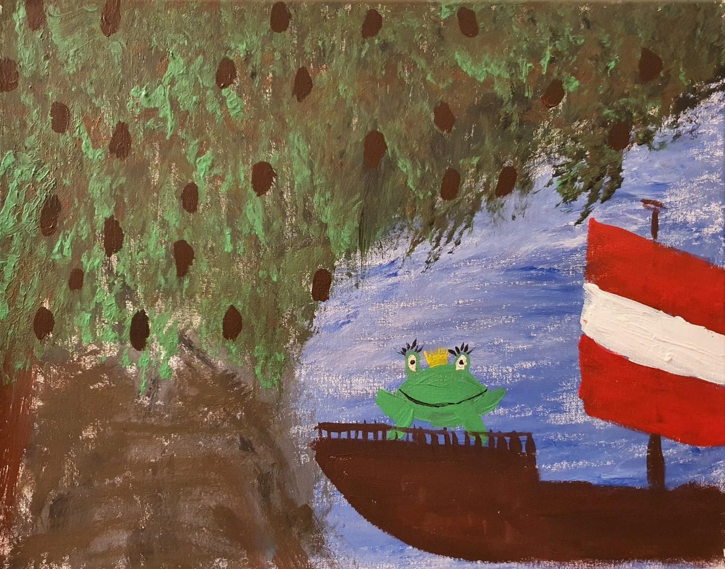 Frog Entkorkte Kunst