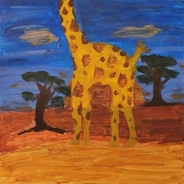 Giraffe Entkorkte Kunst