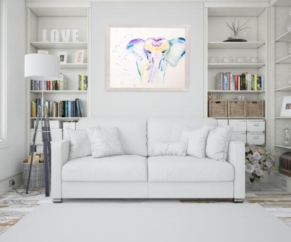 Elefant Bild Wohnzimmer