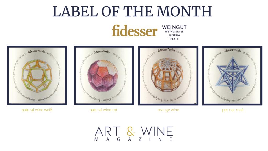 Label of the Month im Februar geht an das österreichische Weingut Fidesser mit ihrer Naturweinlinie fidesser*orbis