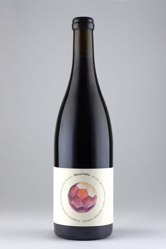 Natural Wine rot von Weingut Fidesser der Linie fidesser*orbis
