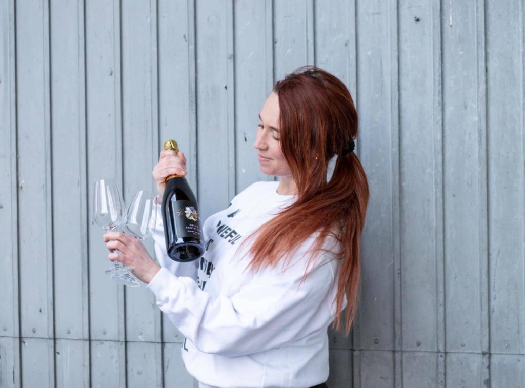 Julia Schittler präsentiert ihre Weinlinie