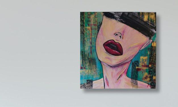 Gemälde des Monats: Blindfolded von Nora Wiegand
