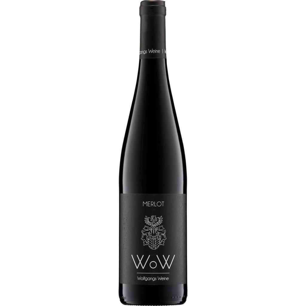 Weingut WoW Wolfgang Bender Merlot Flasche gewinnt das Etikett des Monats